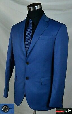 Brilliant Blue Slim Fit Sport Coat with Double Vent (Size 38R) By: J Ferrar