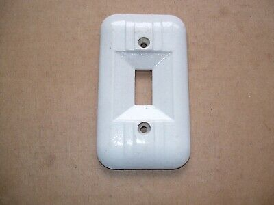 Antique Porcelain Electrical Outlet Receptacle Light Switch Cover P.P. Inc 8378