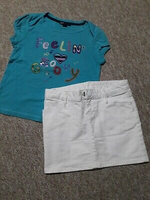 Gap Girls Summer Outfit Bundle Skirt And Top Age 6-7