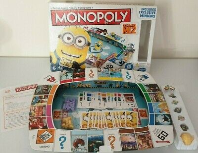 Monopoly Despicable Me 2 Edition Board Game Minions + 2 Extra Figures FREE P&P