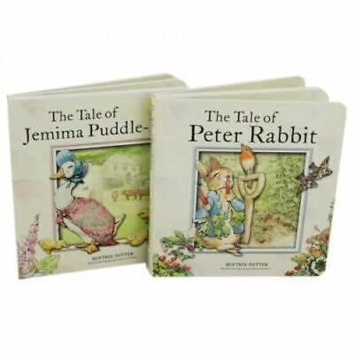 Beatrix Potter Peter Rabbit Board Book Gift Set 2 Book Collection Jemima Puddle