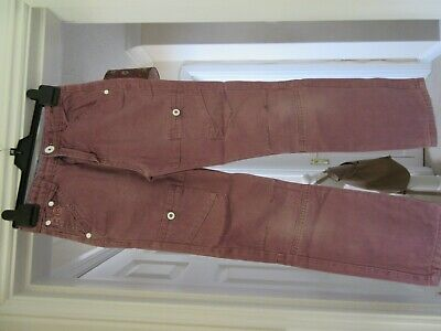 Lovely Boys RIPSTOP 100% Cotton Plum trousers Aged 9 to 10 years
