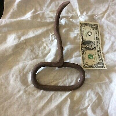 Antique Hand Forged Iron Hay Hook 9 Inch Long-authentic Barn Find-heavy