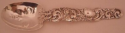 Rare Sterling Whiting Mfg Rococo Shell Sugar Spoon With Human Face In Bowl  1895