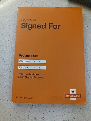 Royal Mail Signed For Posting Book - Brand New UK Stock