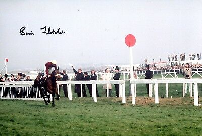 Jockey Brian Fletcher signed RED RUM Grand National photo UACC DEALER SIGNING