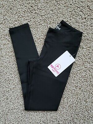 NWT 90 Degree by Reflex ACTIVE LEGGING Yoga/Athletic BLACK Girls S/SMALL 7/8 $48