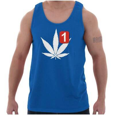 Stoner Notification Funny Marijuana 420 Weed Adult Tank Top T-Shirt Tees Tshirt