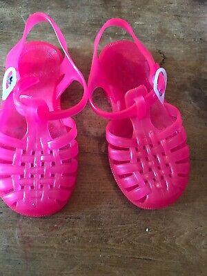 Girls  Jellies Pink Waterproof Sandals Size 8 Uk Infant Excellent Condition