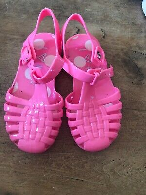 NEXT Girls  Jellies Pink Waterproof Sandals Size 6 Infant Excellent Condition