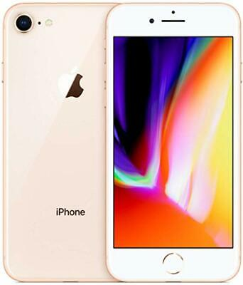 UNLOCKED AT&T Apple iPhone 8 64GB Gold A1863 GSM 4G LTE Smart Camera Cell Phone
