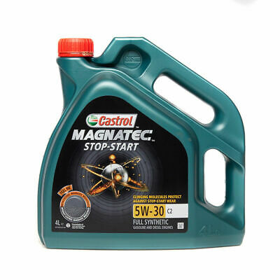 Castrol Magnatec 5W-30 Start Stop C2 Fully Synthetic Engine Oil 5W30 4L 4 Litres