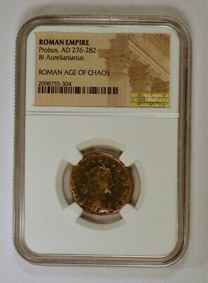 Roman Empire Ancient Coin Aurelianianus with Probus 276-282 A.D. NGC Certified