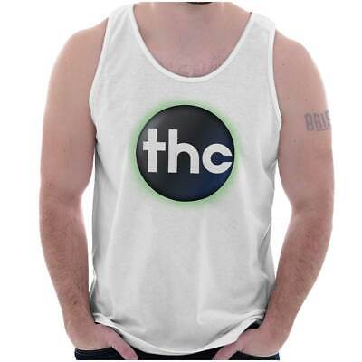 Funny Marijuana THC Stoner Smoking Weed 420 Adult Tank Top T-Shirt Tees Tshirt