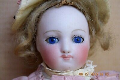 """Antique c. 1880's Francois Gaultier 13"""" French Fashion Doll Creamy White Bisque"""