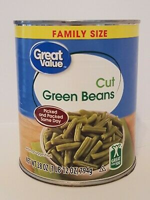 Can Safe/Diversion Safe - Great Value Cut Green Beans
