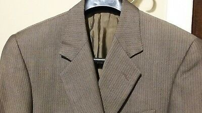 Valentino UOMO ~ Saks Fifth Avenue Brown Suit Jacket Size 38R Wool Made in Italy