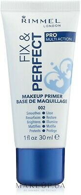 Rimmel London Fix and Perfect Pro Primer, 30 ml BRAND NEW