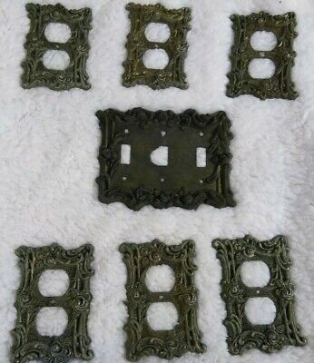 Vintage Silver Outlet Plate Cover - Double Outlet Cover - AT & HC Silver 60D LOT