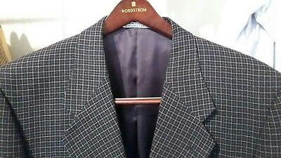 Assets ANDREW FEZZA 2BTN Men's Black Plaids Sport Coat Blazer Jacket 42L