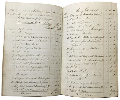 1856 - ALBION FOUNDRY & WORKS, Leeds. A detailed account book