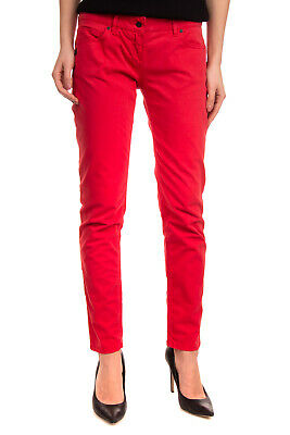 DANIELE ALESSANDRINI DENIM Trousers Size 29 Red Zip Fly Cropped