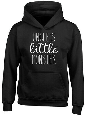 Uncle's Little Monster Boys Girls Childrens Kids Hooded Top Hoodie