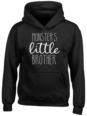 Monster's Little Brother Boys Girls Childrens Kids Hooded Top Hoodie