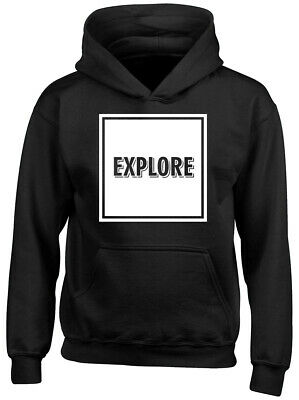 Explore Boys Girls Childrens Kids Hooded Top Hoodie