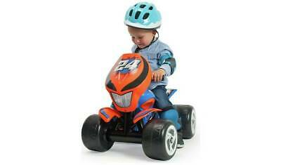 Chad Valley 6V Ride On Powered Quad Bike - Blue and Orange Automatic Brake _UK
