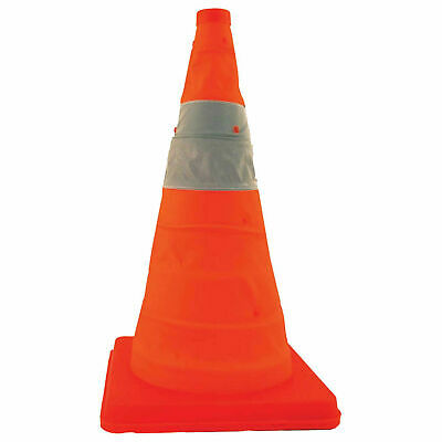 "Cortina 03-501-06 18"" Collapsible Traffic Cone Without Feet, Orange, Plastic"