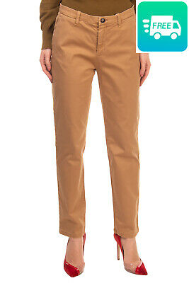 RRP€120 HISTORIC Chino Trousers Size IT 44 / M Stretch Garment Dye Made in Italy