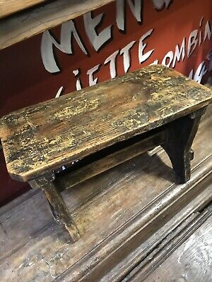 Vintage French Rustic Milking Stool