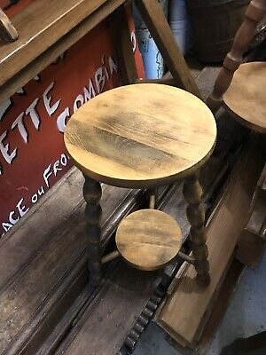 French Vintage Rustic Milking Stool