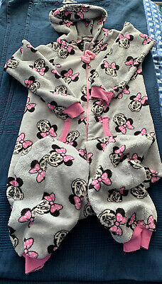 Girls Minnie Mouse Onesie (not Gerber) PJs Age 10/11 Height 39-41 Inch