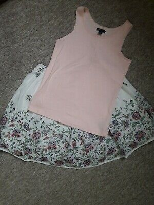 Gap Girls Floral Skirt And Top Outfit Age 14-16