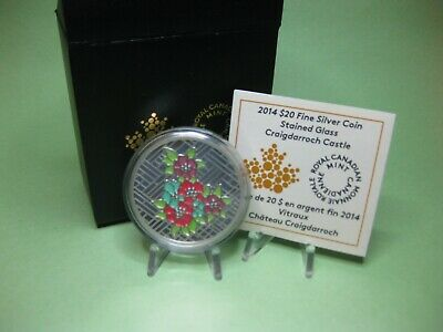 2014 $20 Fine Silver Coin - Stained Glass Craigdarroch Castle