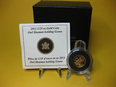 2013 50-cent Pure Gold Coin - Owl Shaman holding Goose
