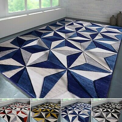 Extra Large Geometric Area Rugs Modern Carpet Living Room Bedroom Mats Non Slip