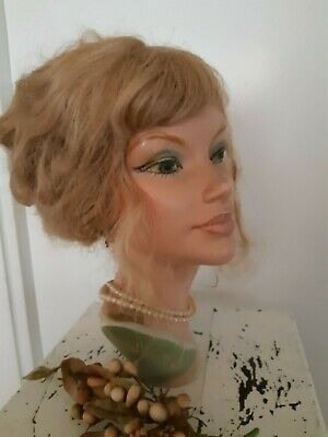 Antique,French,art-deco ,miniature mannequin head on stand