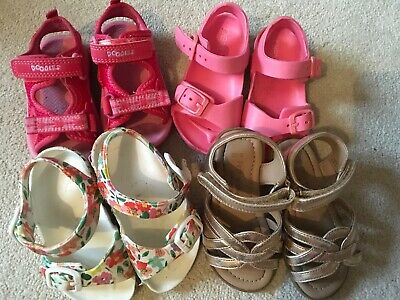 Baby Girl Shoe Bundle 4 Pairs Size 4.5 & 5 Infant