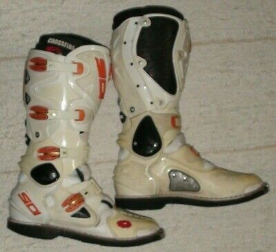 Sidi Crossfire Stiefel Motocross 46 Weiß Orange
