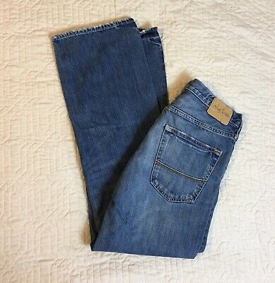 Abercrombie Blue Jeans Boys Size 16 Horton Classic Straight Button Fly 32x29