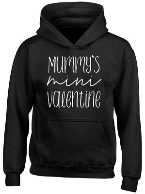 Mummy's Mini Valentine Boys Girls Childrens Kids Hooded Top Hoodie