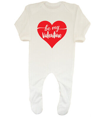 Be My Valentine Cute Boys Girls Baby Grow Sleepsuit