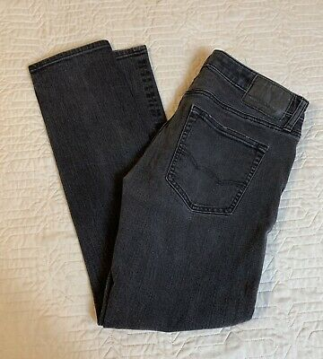 American Eagle AE Black Jeans Men Size 32x27 Extreme Flex 4 Stretch Skinny Slim