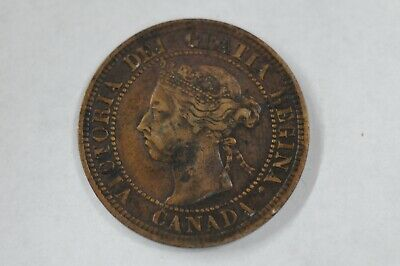 High Grade 1891 Canada One Cent Penny