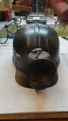 coal miners HAT WITH CARBIDE LIGHT-GUYS DROPPER ON LIGHT
