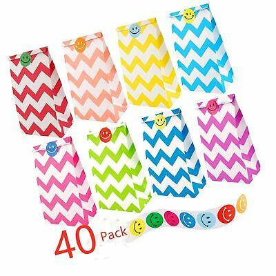 Felly Paper Party Bags, 40 Pack Gift and Sweet Bags Happy Birthday Bags with ...