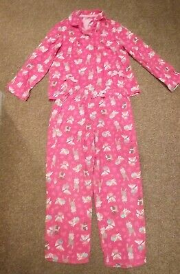 Girl's Pink Woodland animals wincey pyjamas, aged 6-7 years, from Tu Sainsburys